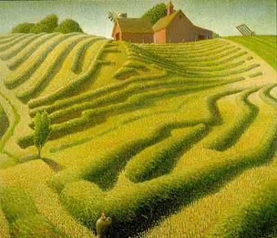 Grant Wood, Haying, by Grant Wood, 20th Century American Painter - 1939.
