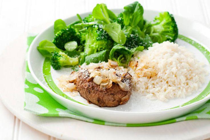 Kijk wat een lekker recept ik heb gevonden op Allerhande! Rundertartaar met rijst en broccoli