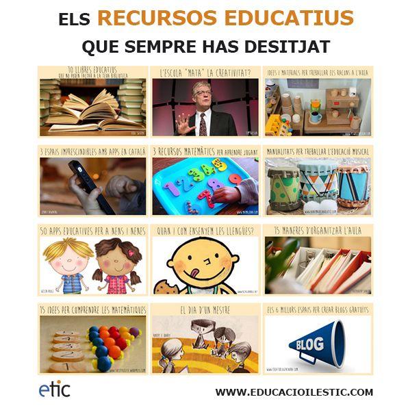 """Els recursos educatius que sempre has desitjat - """"Los recursos educativos que siempre has deseado"""""""