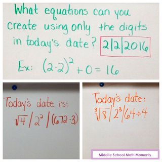 Have some math fun - with dates! blog post ~ Middle School Math Moments