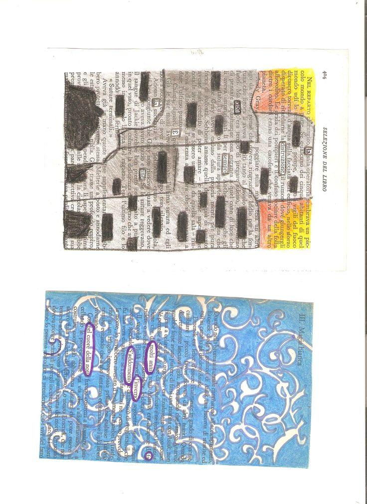 Due esempi di caviardage di M. P.