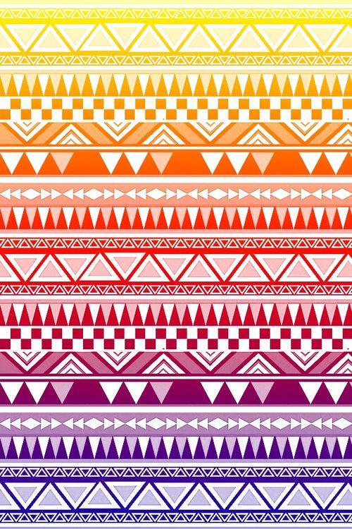 Aztec. Ombré. Yellow. Orange. Red. Plum. Indigo.