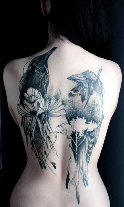 Croocked Moon Tattoo