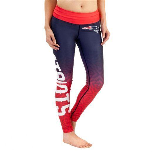 New England Patriots Women's Navy Blue Gradient Leggings