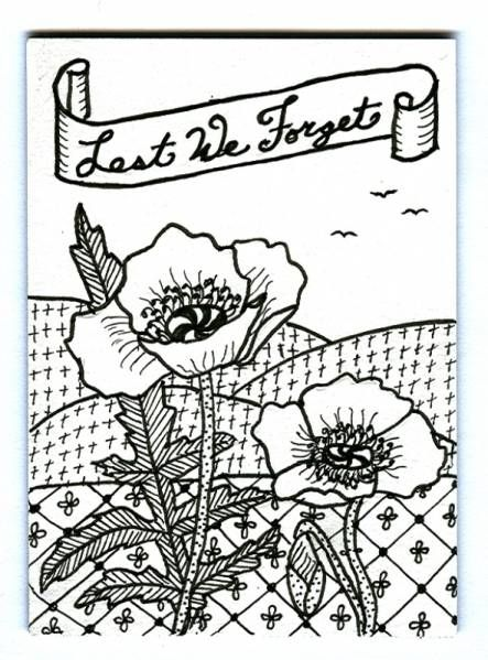 Best Cards Remembrance Day Images On Pinterest Handmade - Poppies to remember coloring page