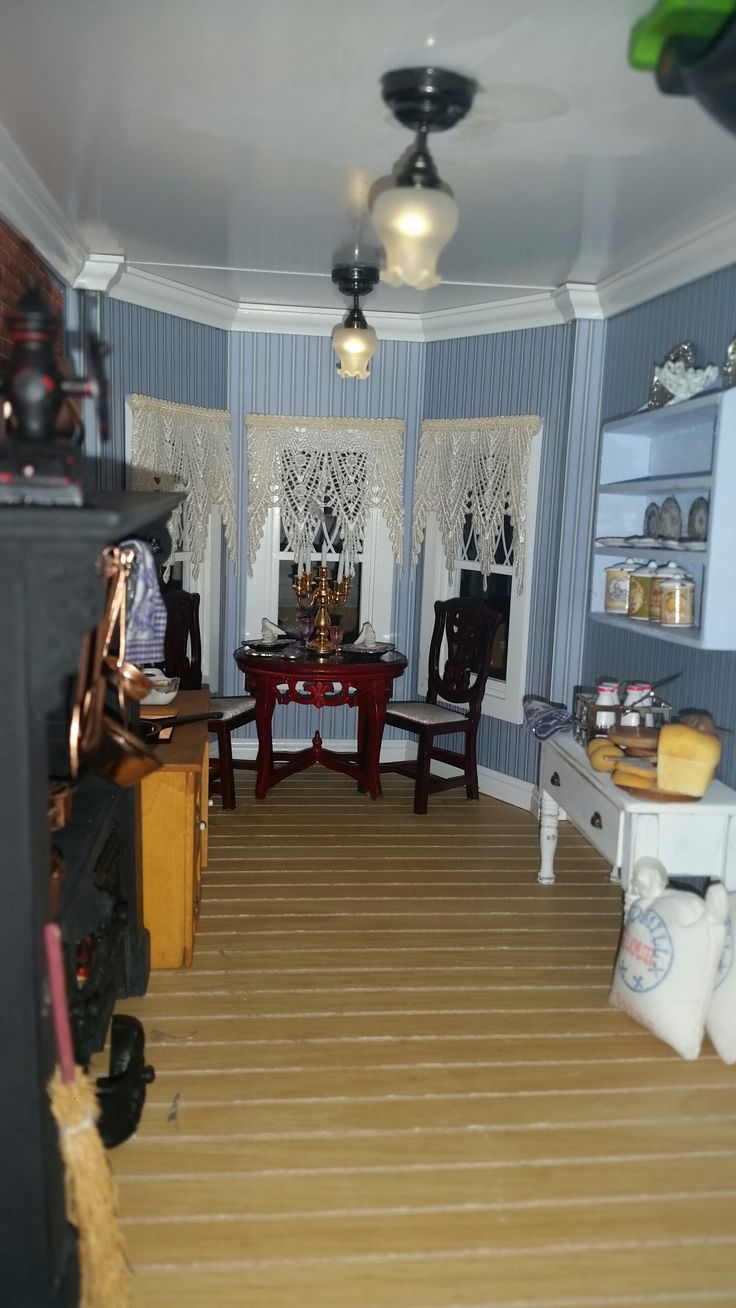 Dining Room Kitchen 17 Best Images About Dollhouse Kitchen Dining Room On Pinterest