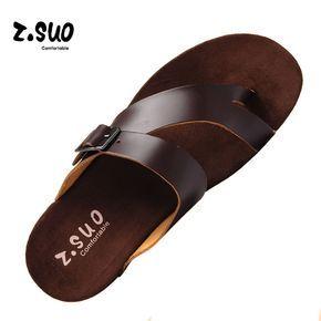 Vida Cotidiana Z'Suo Buena Calidad Sandalia de Hombre Caminando Zapatos de Playa Zapatillas de Verano Fresco Suave Y Cómodo de Cuero Genuino SD024 en Sandalias de los hombres de Zapatos en AliExpress.com | Alibaba Group #sandalschic