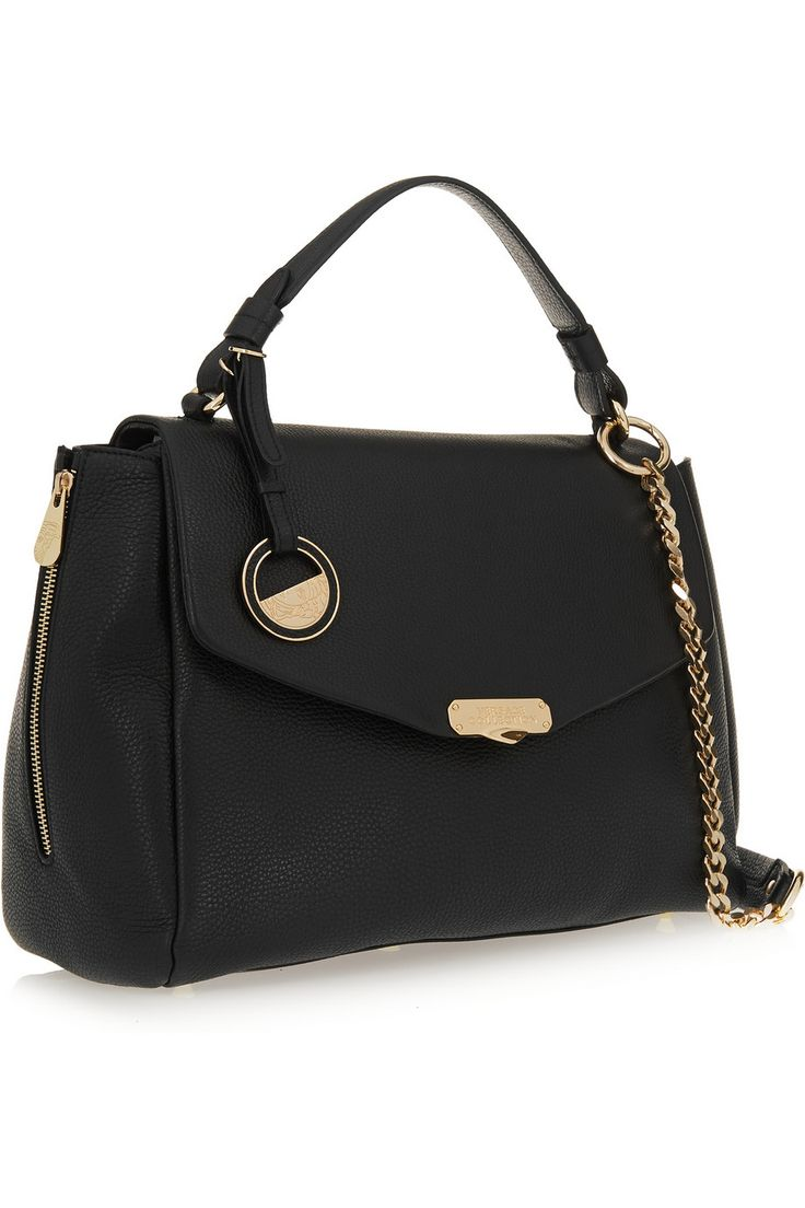 £568.80 - VERSACE COLLECTION Textured-leather shoulder bag