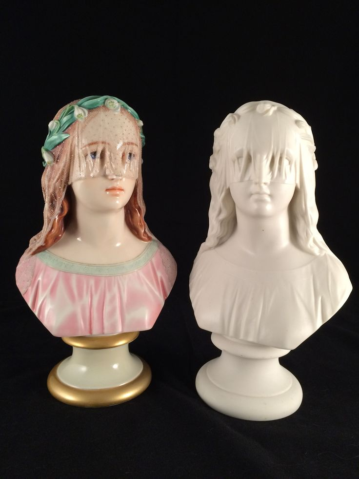 Two Half Veiled Hopes coloured and plain parian.