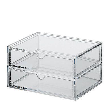 Förvaringslåda Acrylic Box, 2 fack