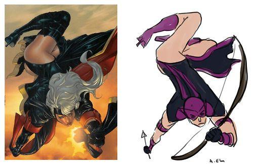 """""""The Hawkeye Initiative"""" Strikes Back Against Modern Comic Art"""