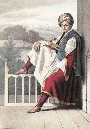portrait of Veli Pasha, son of Ali Pasha of Ioannina, by Louis Dupré.