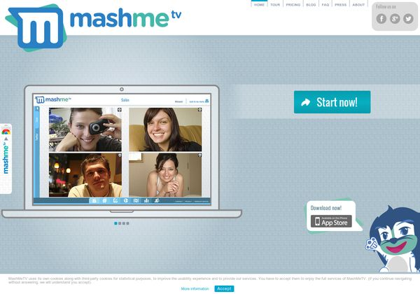 Persistent real-time collaboration rooms that integrate video conferencing and multiple co-viewing options (Youtube, Google Docs, Slideshare, Maps) - free for up to 5 participants - http://mashme.tv