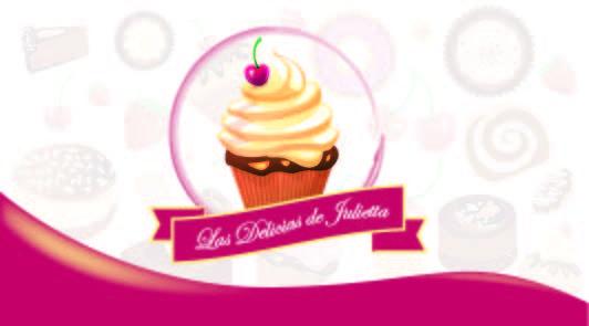 Logotipo para negocio de dulces, eventos y mas a pedido. Las delicias de Julietta. Año: 2016