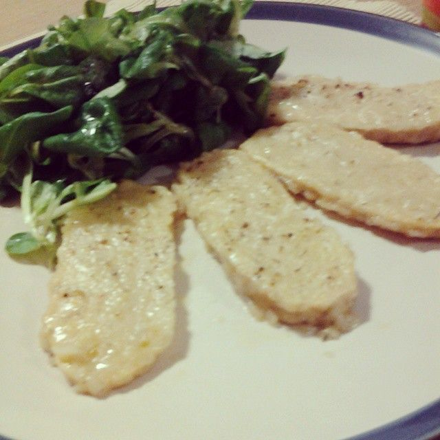 Scaloppine di Tempeh al vino bianco  tempeh cutlets with white wine