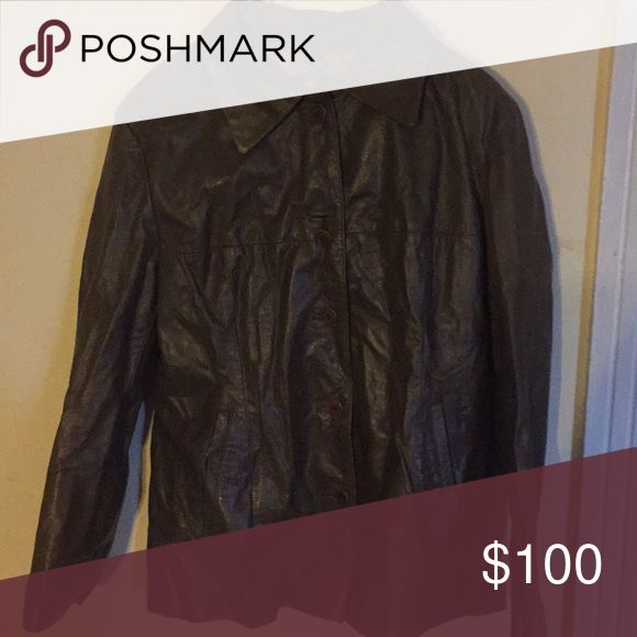 Italian leather jacket Olive Italian leather jacket (size 44). Brought straight from Italy. Fits like a size 6. Alberto Biani Jackets & Coats