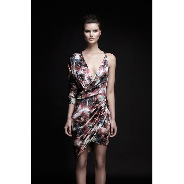 Speakeasy Burning Floral Wrap Dress