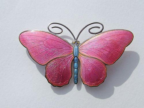 Marius Hammer Stunning Silver Enamel Large Butterfly Brooch | eBay