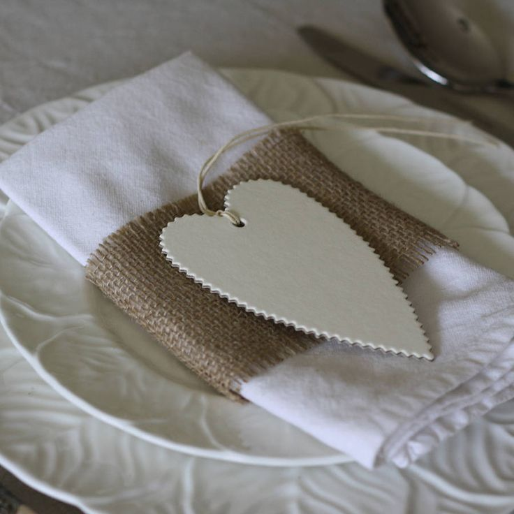 six heart gift tags cream, grey, brown by the wedding of my dreams | notonthehighstreet.com