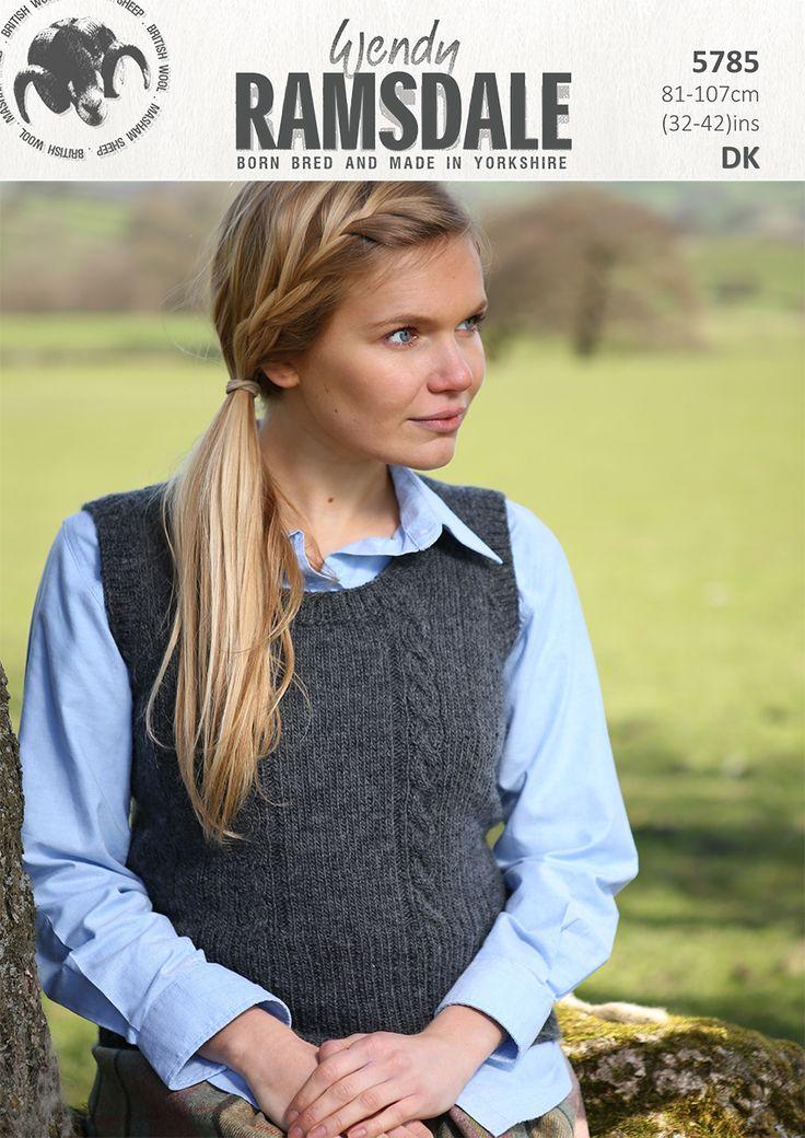 5785 - Wendy Ramsdale dk tank top http://www.tbramsden.co.uk/catalog/patterns/womens/5785