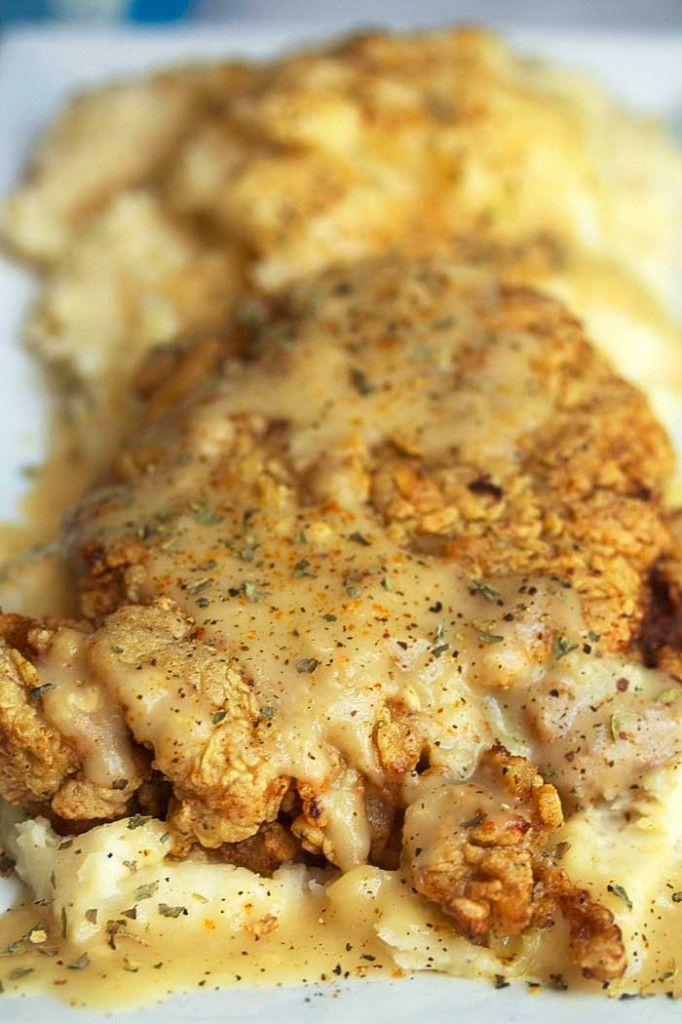 Chicken Fried Steak Recipe. Whoa.. this just looks amazing!