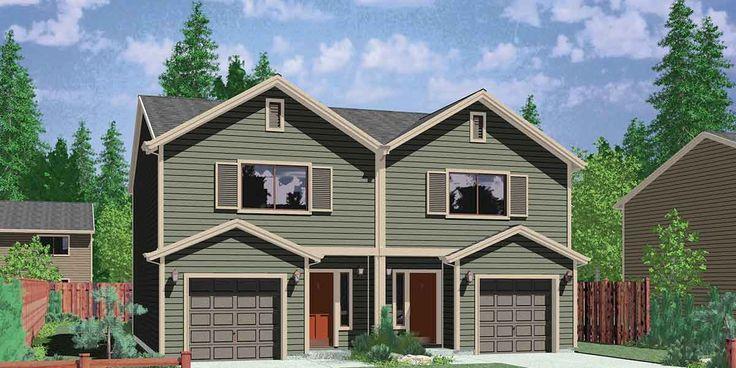 25 best ideas about duplex design on pinterest duplex for Cheap duplex plans