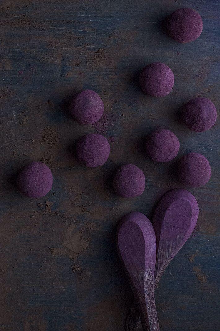 Chocolate Hibiscus Truffles