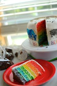 Brown bear brown bear cake (6 layer / rainbow interior)
