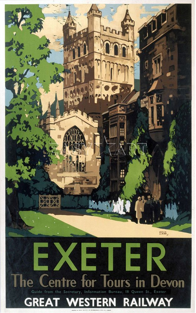 Exeter - Centre for Tours in Devon Art Print by National Railway Museum