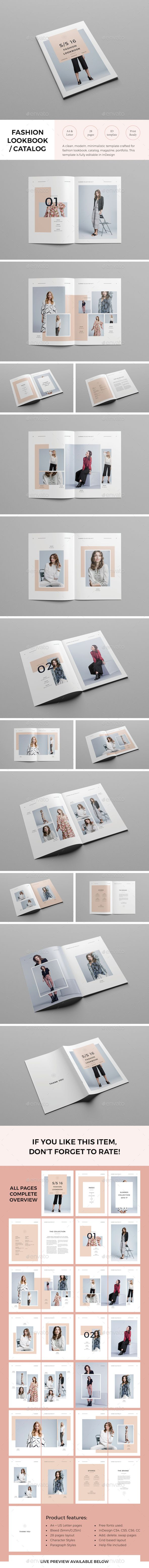 Lookbook Template InDesign INDD. Download here: http://graphicriver.net/item/lookbook-template/15315869?ref=ksioks