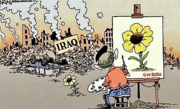 Entre todas las hazañas de Bush. .. esta la haber destruido a es país ... aunque quieran pintar todo color de rosas