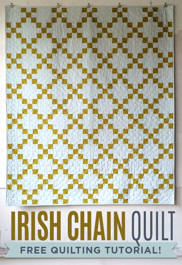 Make a gorgeous Irish Chain Quilt with Jenny Doan and Heather Jones! twin- 3 3/4 yrds sky, 1 3/4 yrds of pickle, 4 1/8 yrds backing, 1/2 yrd binding.