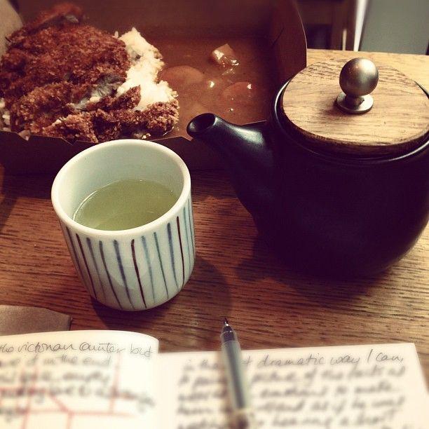 Tea, Katsu, Journal at Tsuru Sushi