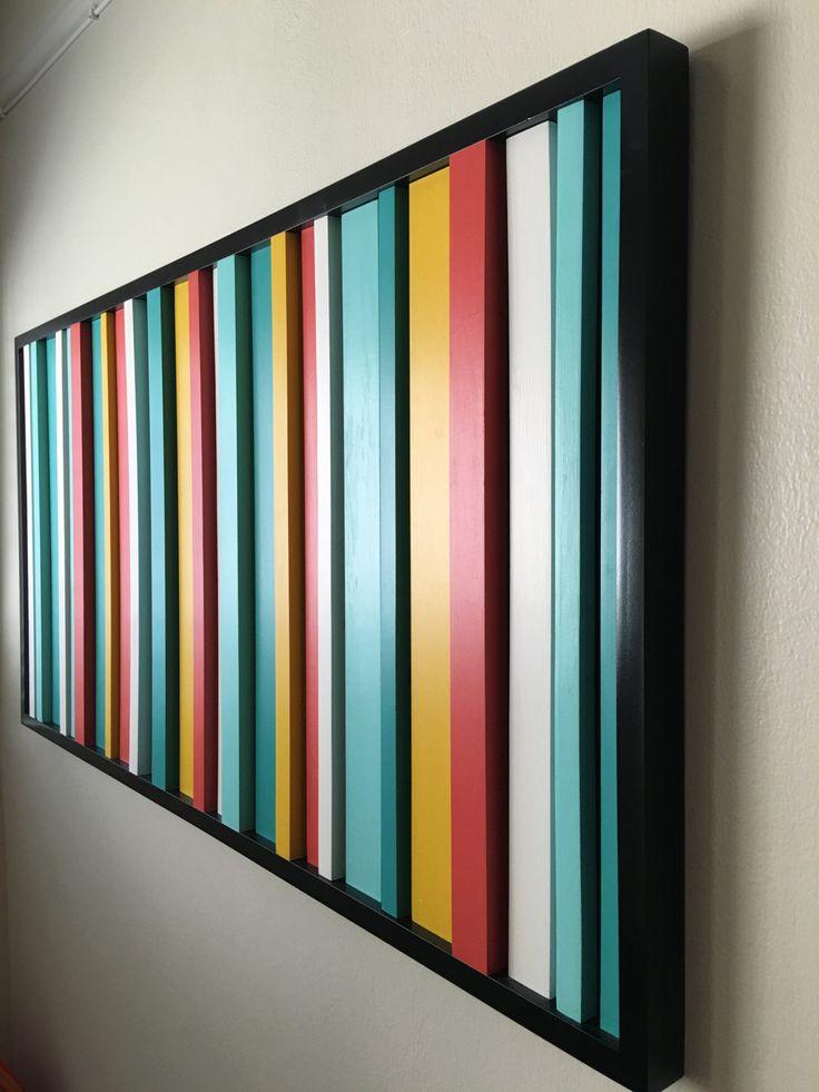 Modern wall art, wood art, abstract wood painting, reclaimed wood, wood wall art by Woodartplanet on Etsy