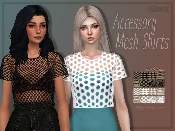 Mesh shirt acc at Trillyke • Sims 4 Updates