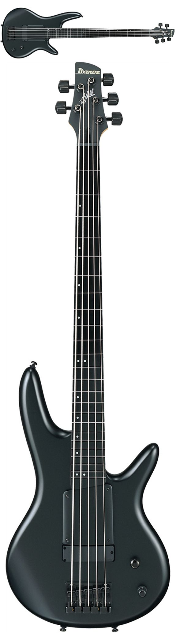 Ibanez GWB35 Gary Willis Fretless 5-String Bass Guitar in Black