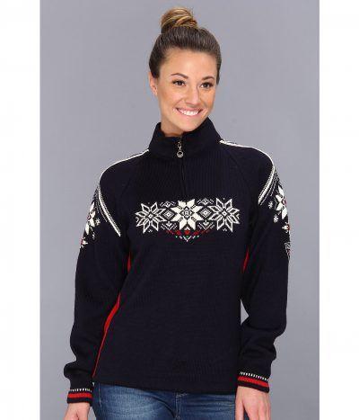 Dale of Norway - Holmenkollen Feminine (C-Navy/Raspberry/Off White) Women's Sweater