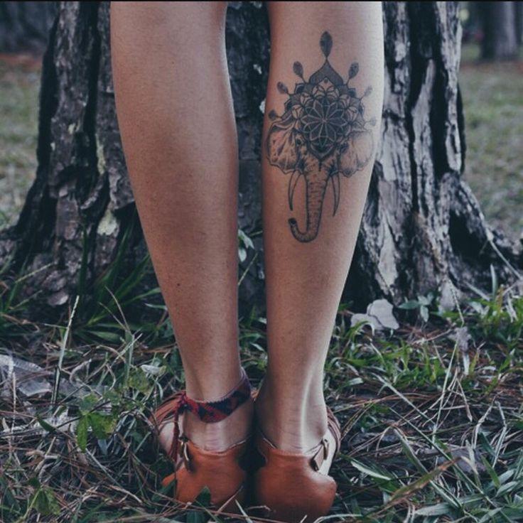 Elephant calf tattoo