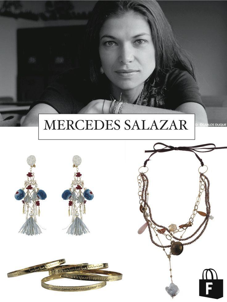 Mercedes Salazar, diseñadora de joyas y accesorios.