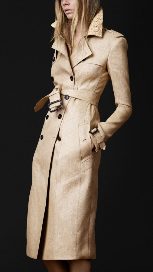 Raffia Trench, Fashion, Style, Woven Raffia, Collars, Burberry Trench, Burberry Prorsum, Trench Coats, Bananas Republic