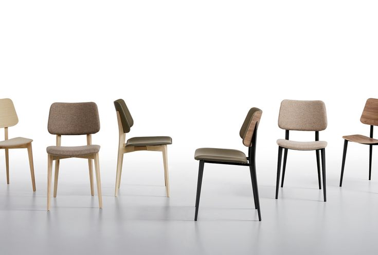Joe is a young chair reminiscent of the '70s, reinterpreted in a modern key. The warmth of wood and fabrics clashes with the freshness of steel and leathers creating infinite combinations of style. Joe with its compact shape is suitable for home and contract.