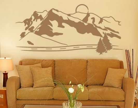 mountains - wall decals    wall tattoo