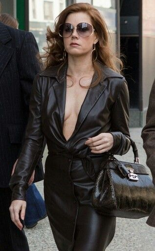 Amazing Leather dress ! Amy Adams in American Hustle