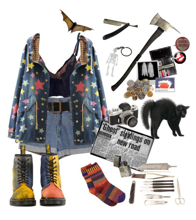 """Chasing Ghosts"" by thecatswhiskers ❤ liked on Polyvore featuring Solmate Socks, Dr. Martens, KEEP ME and Chicnova Fashion"