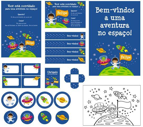 convite festa astronauta - Pesquisa Google