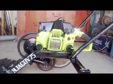 косилка из бензопилы - YouTube