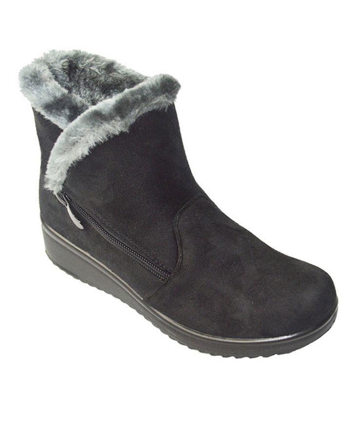 Golden Road Black Side-Zip Ankle Boot