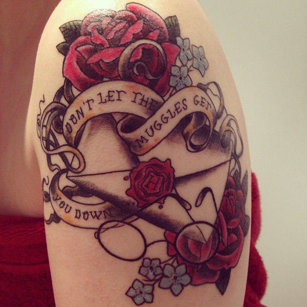 Dont let the muggles get you down. a big hell yeah to this Harry Potter tattoo! gorgeous.