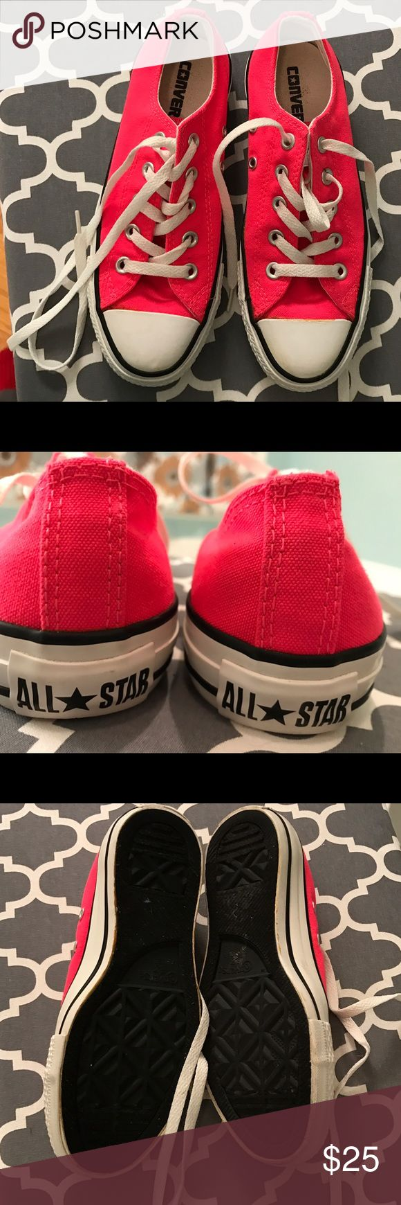 Converse Chuck Taylor's Neon Pink size 6 Converse Neon Pink Chuck Taylor's Women's size 6. EUC. They are the unisex size. Converse Shoes Sneakers