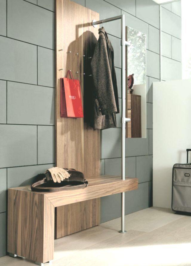 Garderoben Set Mit Sitz Möglichkeit Und Stange Zum Aufhängen